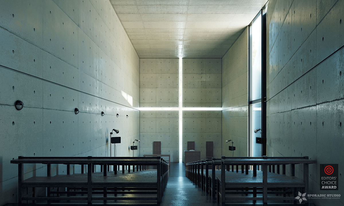 3d visualization of Church of Light