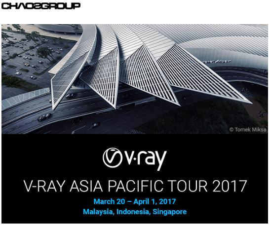 V-RAY ASIA PACIFIC TOUR 2017