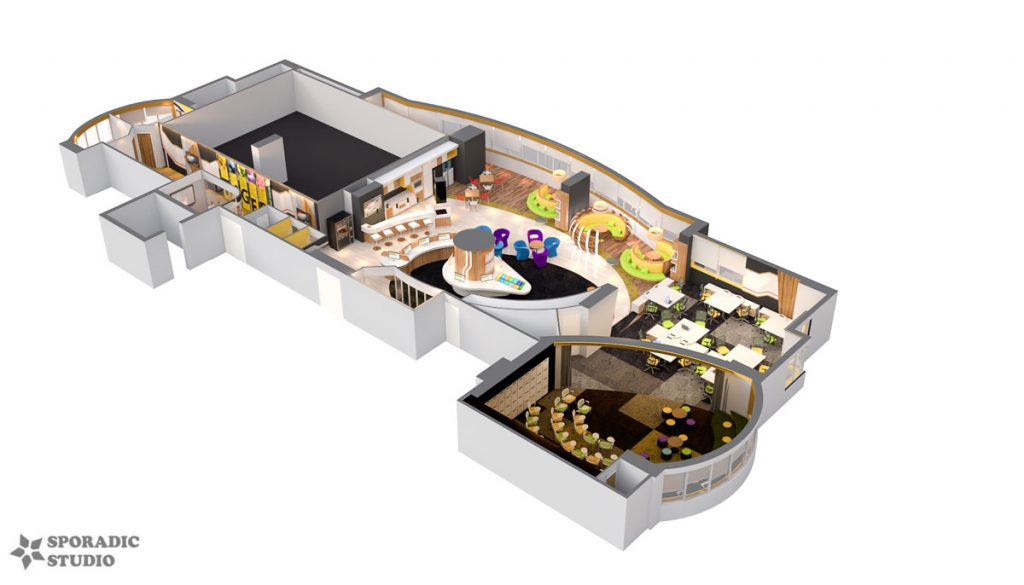 3D Floor Plan view 2